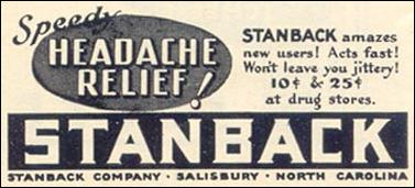 STANBACK HEADACHE REMEDY LIFE 07/24/1939 p. 74