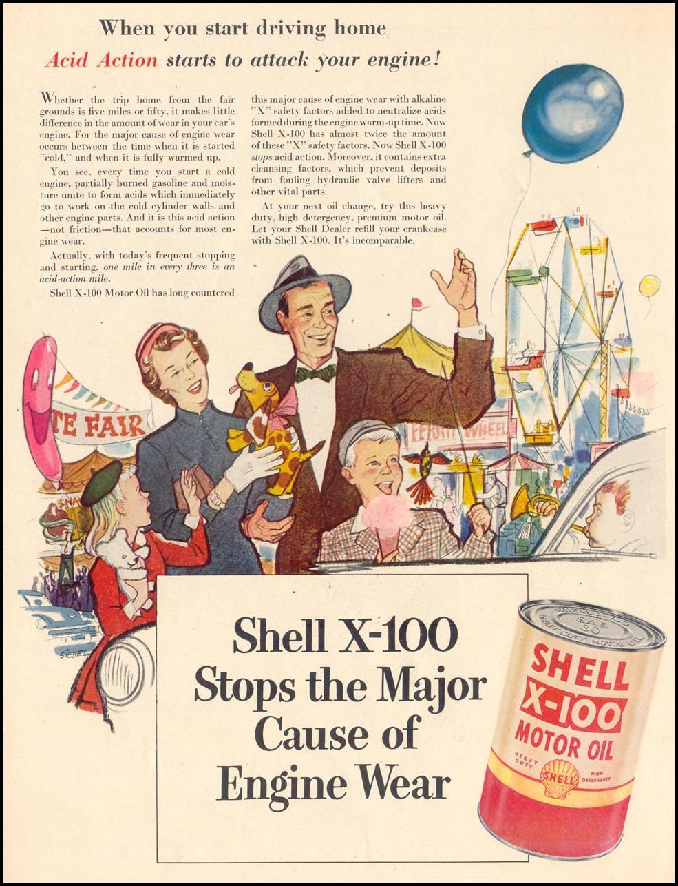 SHELL X-100 MOTOR OIL LIFE 10/19/1953 p. 84