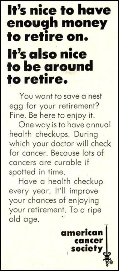 CANCER PREVENTION SATURDAY EVENING POST 02/08/1969 p. 61