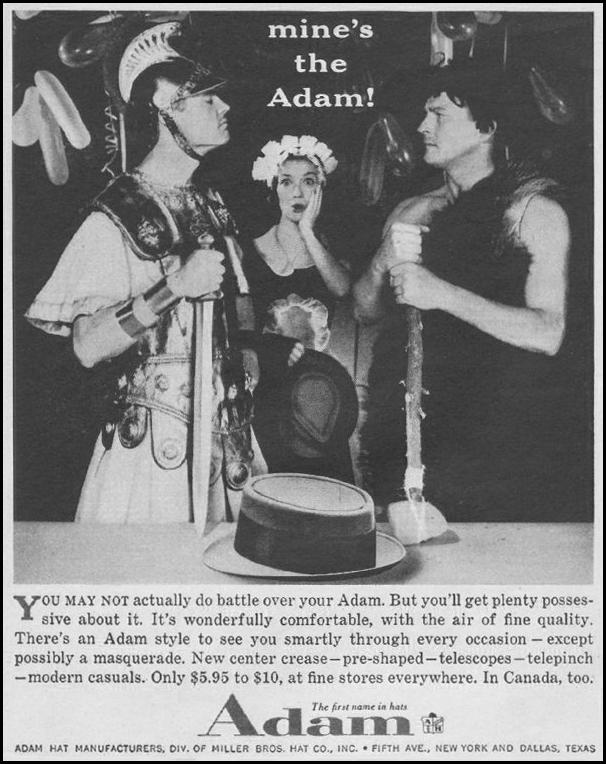 ADAM HATS LOOK 10/29/1957 p. 128