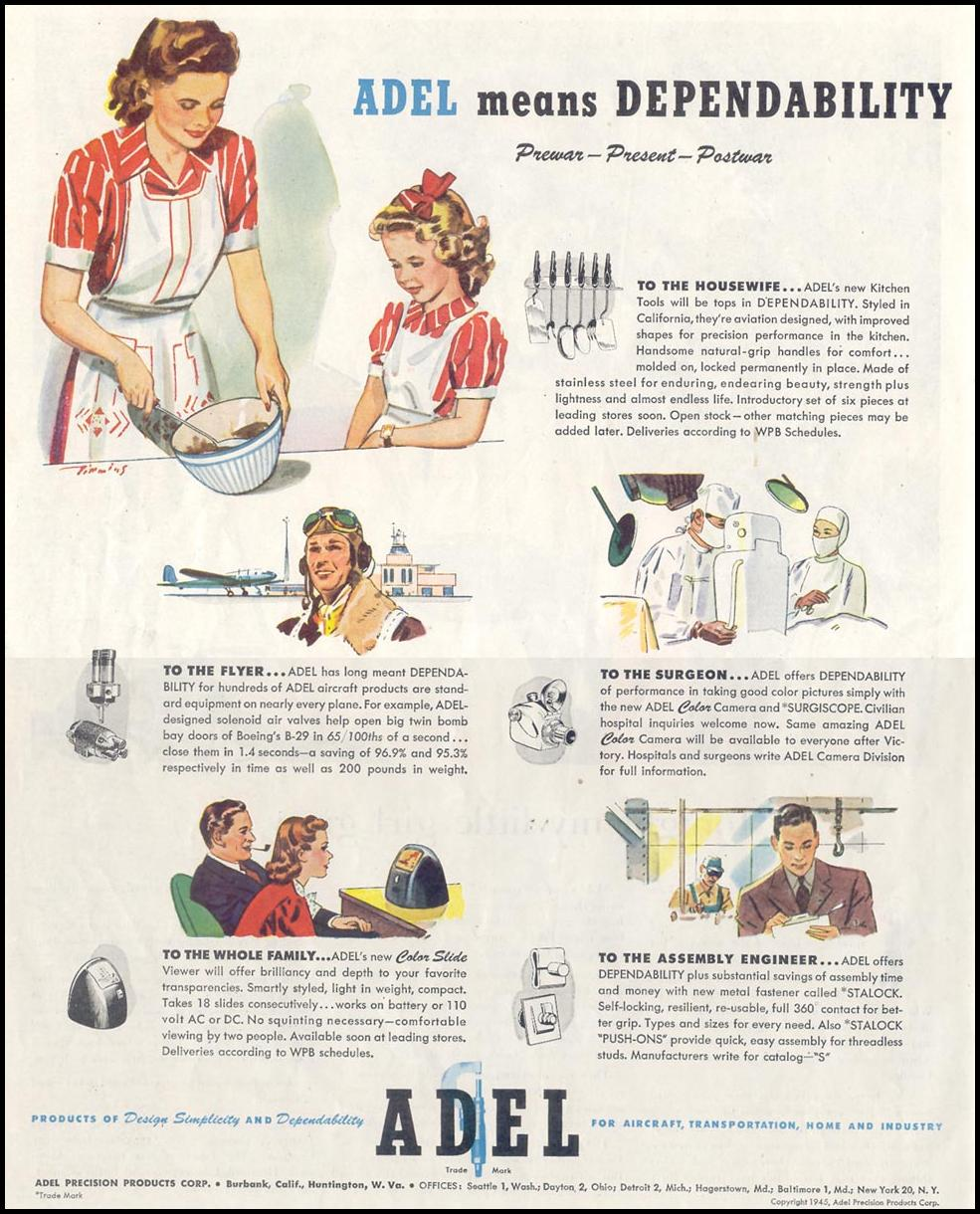 POSTWAR PRODUCTS SATURDAY EVENING POST 05/19/1945