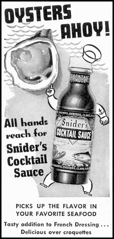 SNIDER'S COCKTAIL SAUCE TIME 12/28/1942 p. 50