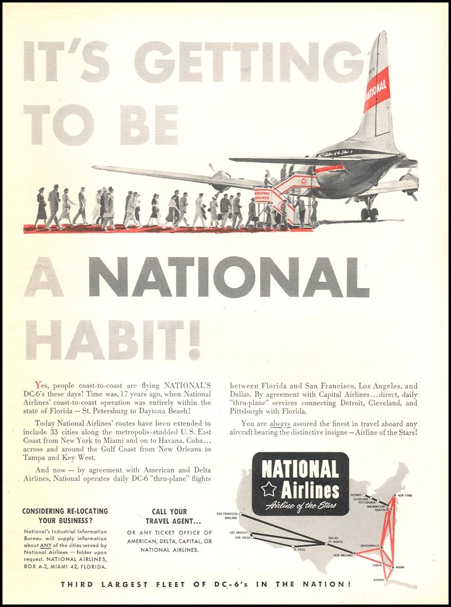 AIR TRAVEL NEWSWEEK 06/11/1951 p. 11