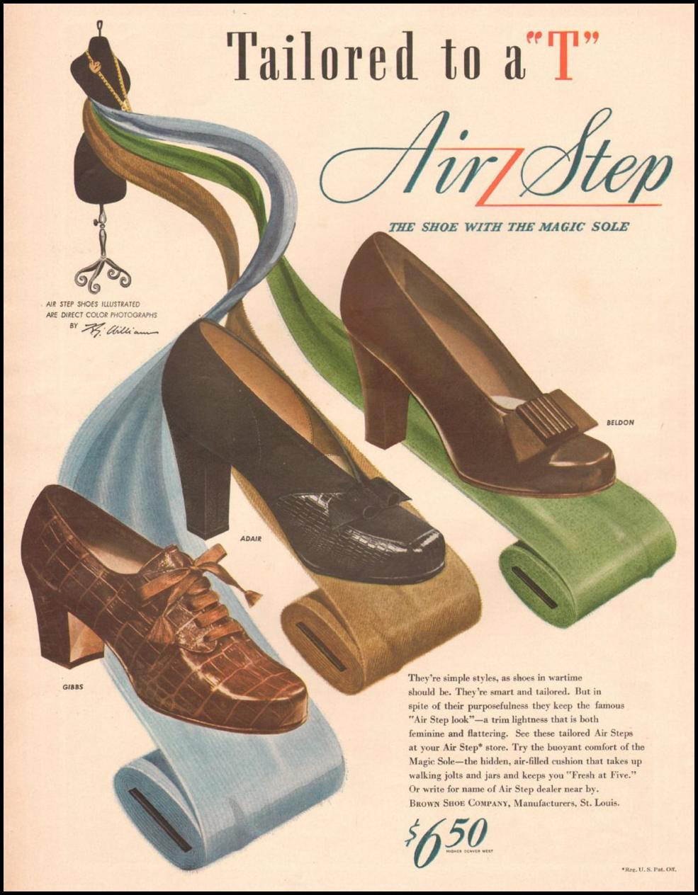 AIR STEP SHOES LIFE 10/25/1943