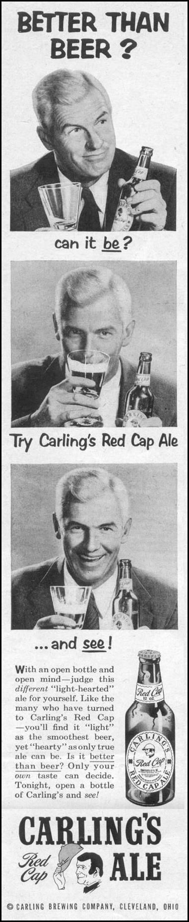 CARLING'S RED CAP ALE LIFE 07/12/1954 p. 112