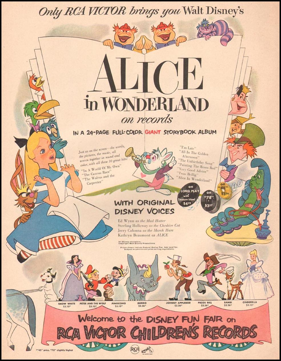 ALICE IN WONDERLAND LIFE 09/03/1951 p. 94