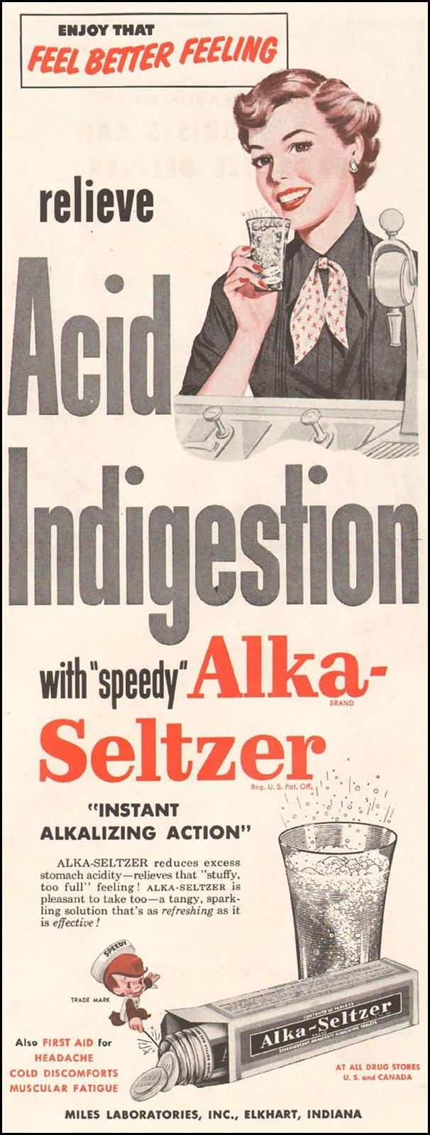 ALKA-SELTZER LADIES' HOME JOURNAL 03/01/1954 p. 89