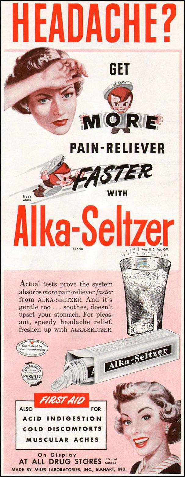 ALKA-SELTZER WOMAN'S HOME COMPANION 12/01/1952 p. 125