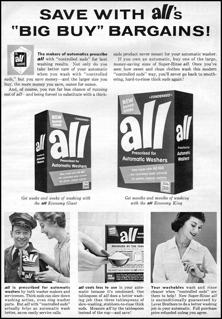 ALL LAUNDRY DETERGENT FAMILY CIRCLE 11/01/1957 p. 75