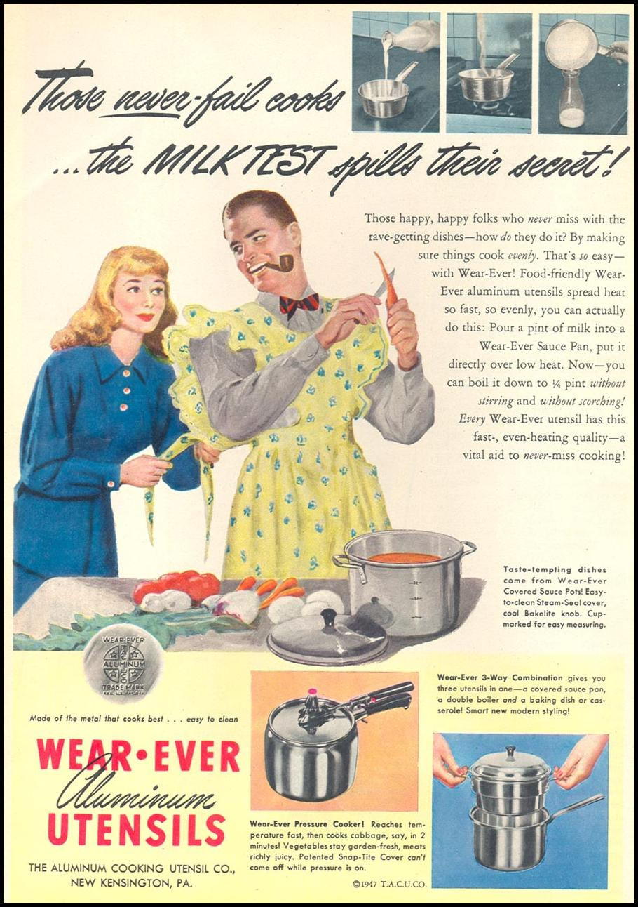 WEAR-EVER ALUMINUM COOKING UTENSILS WOMAN'S DAY 05/01/1947 p. 26