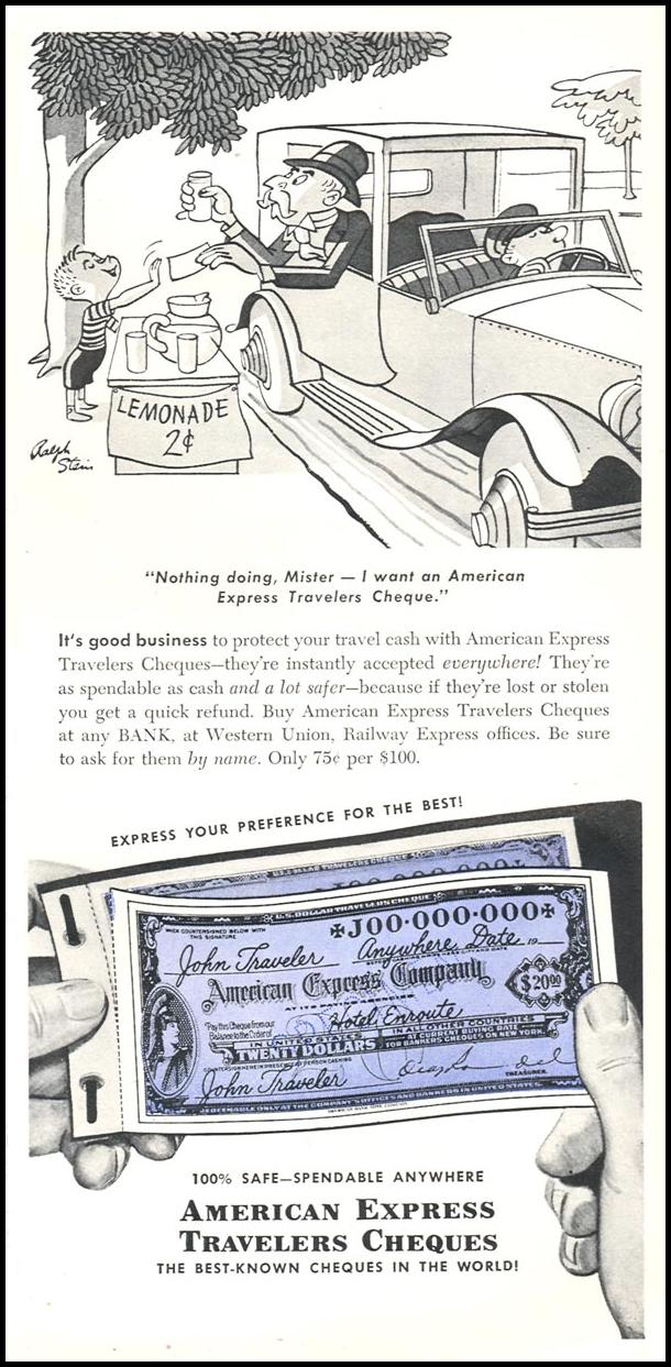 AMERICAN EXPRESS TRAVELERS CHEQUES TIME 06/08/1953 p. 63