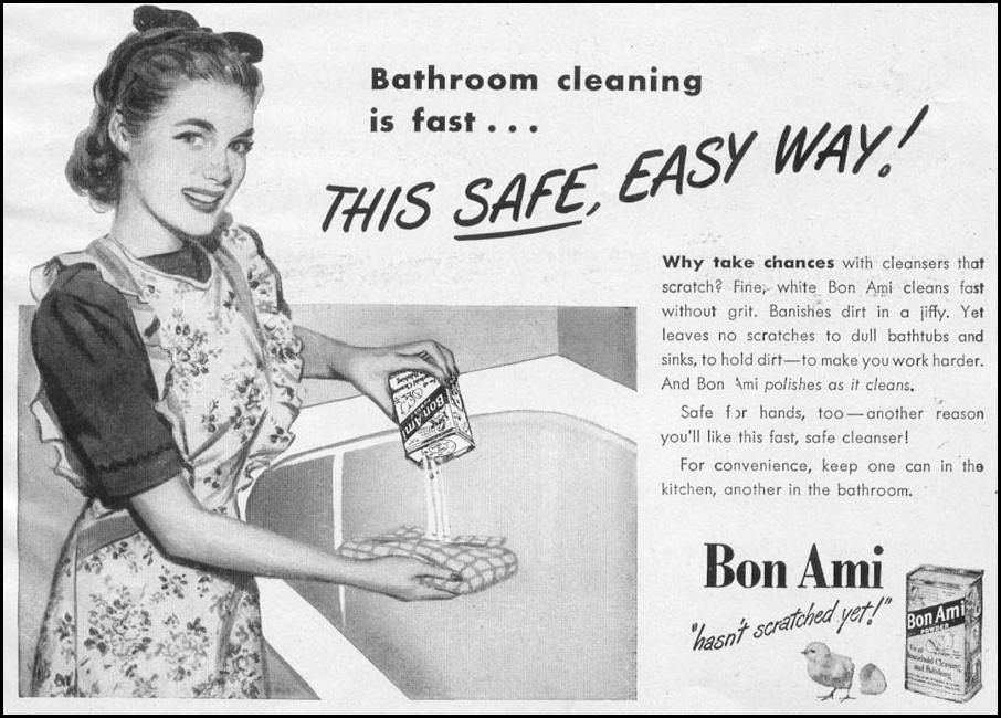 BON AMI HOUSEHOLD CLEANSER WOMAN'S DAY 12/01/1948 p. 21