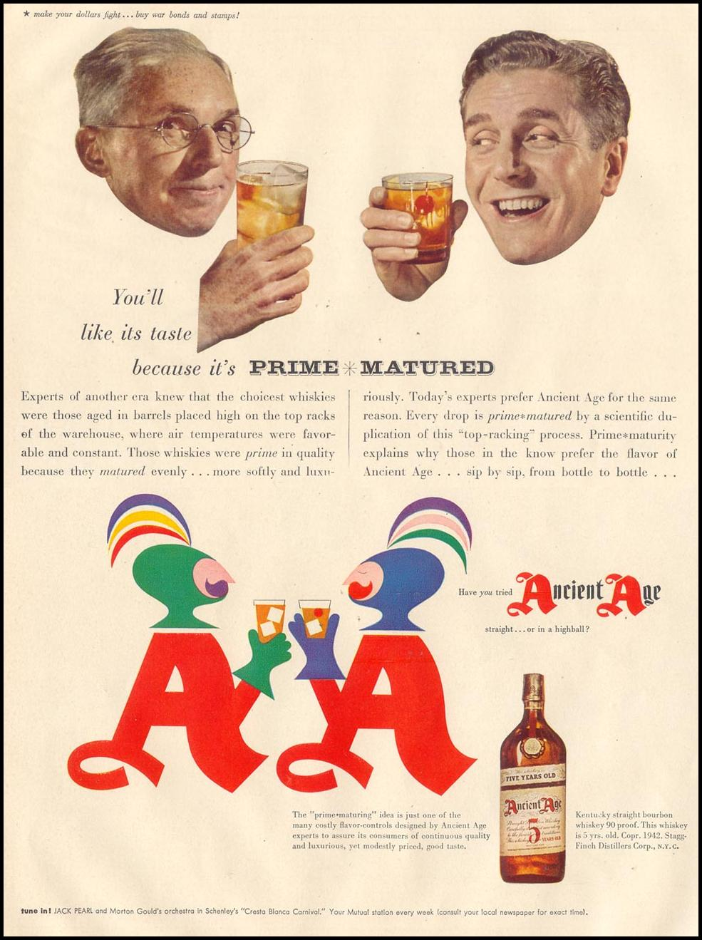 ANCIENT AGE WHISKEY LIFE 11/30/1942