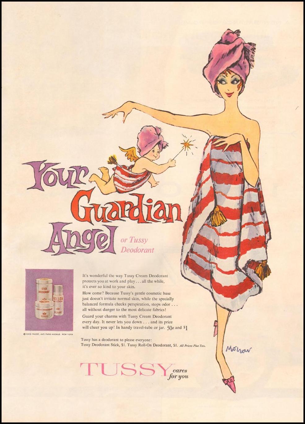 TUSSY CREAM DEODORANT LIFE 10/05/1959