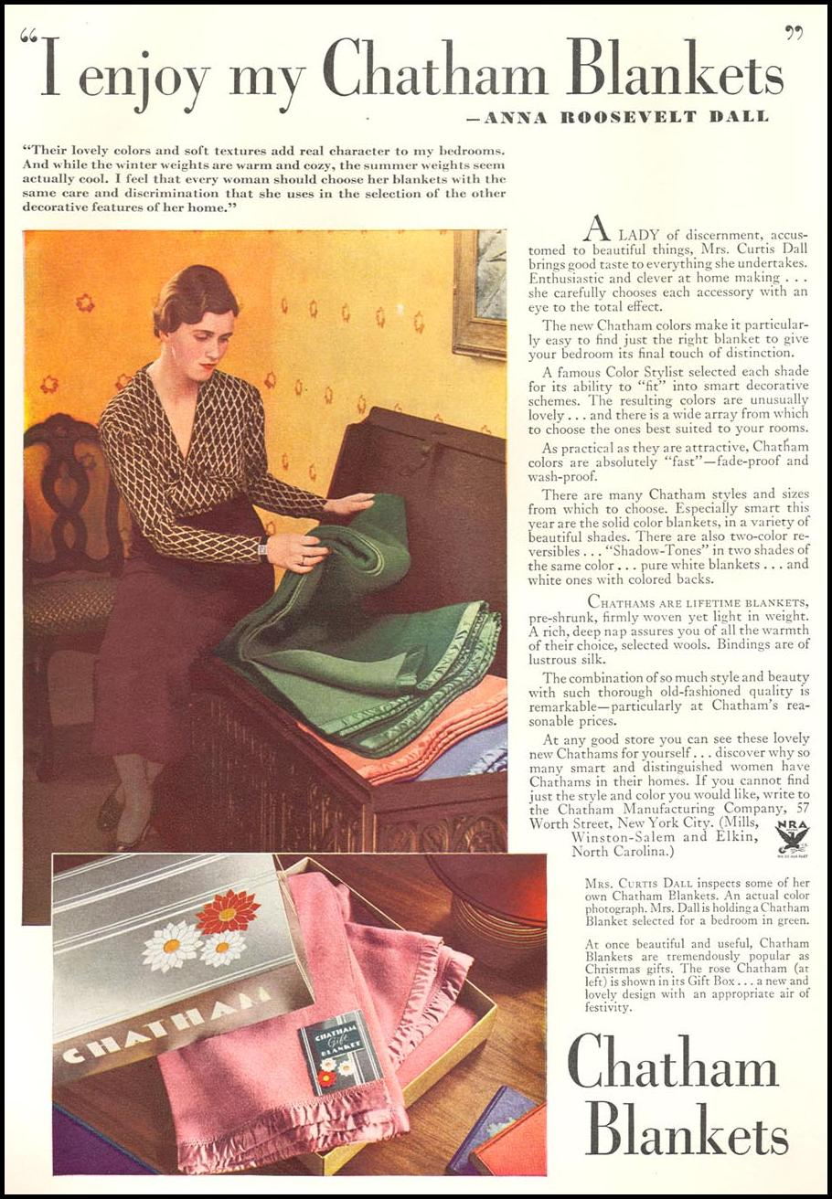 CHATHAM BLANKETS GOOD HOUSEKEEPING 12/01/1933 p. 176