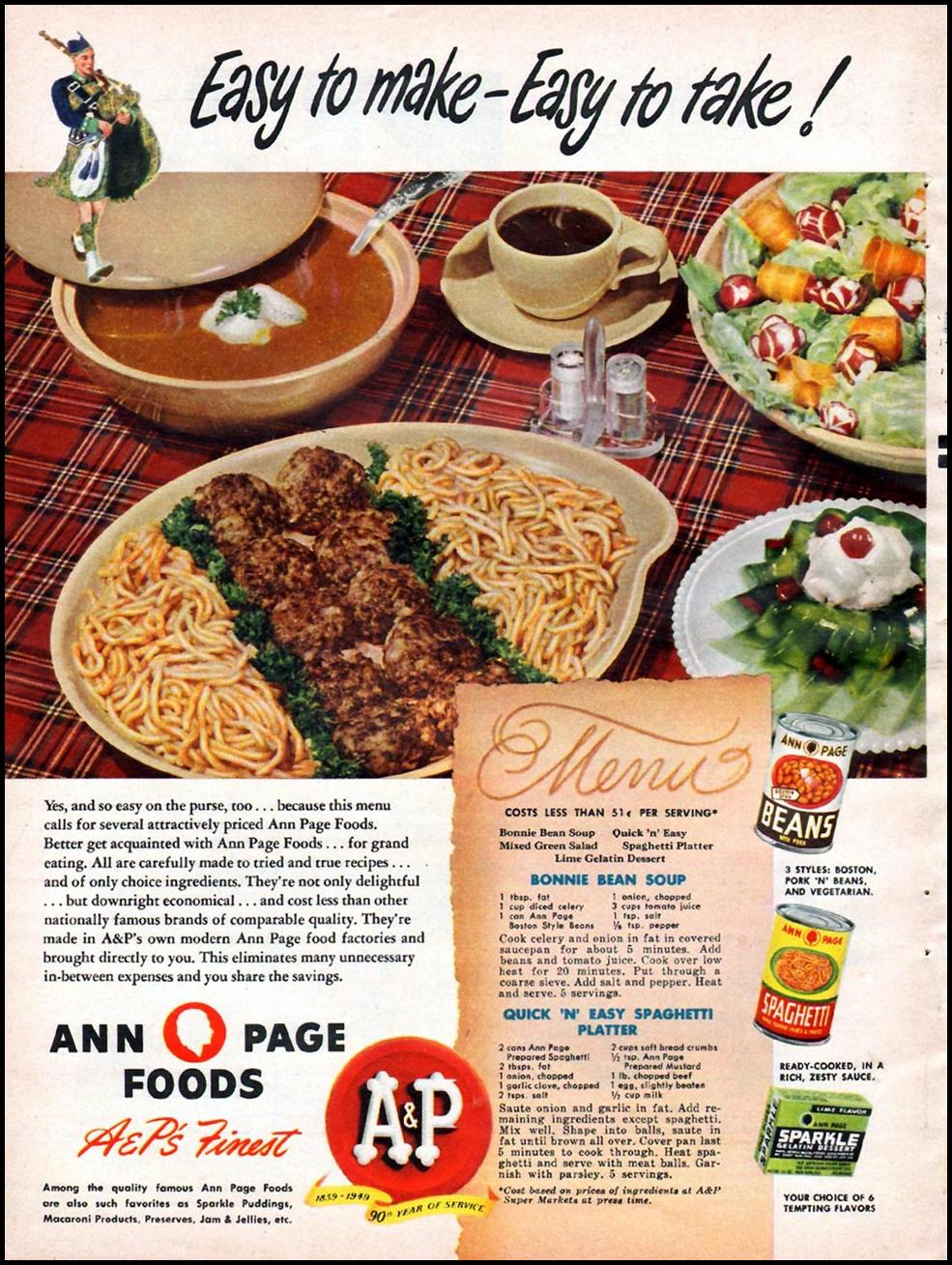 ANN PAGE FOODS WOMAN'S DAY 01/01/1949 p. 16