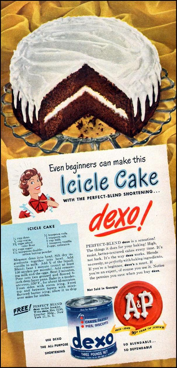 DEXO SHORTENING WOMAN'S DAY 01/01/1949