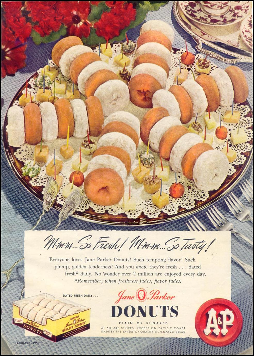 JANE PARKER DONUTS WOMAN'S DAY 02/01/1950 p. 77