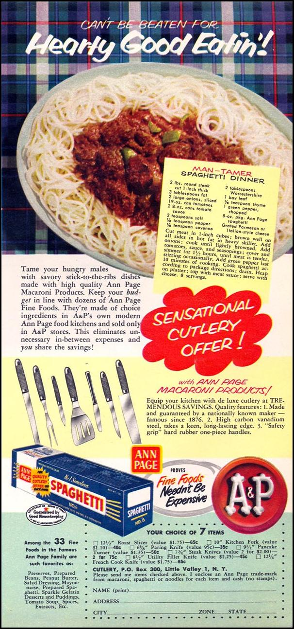 A & P ANN PAGE FOODS WOMAN'S DAY 02/01/1954 p. 119
