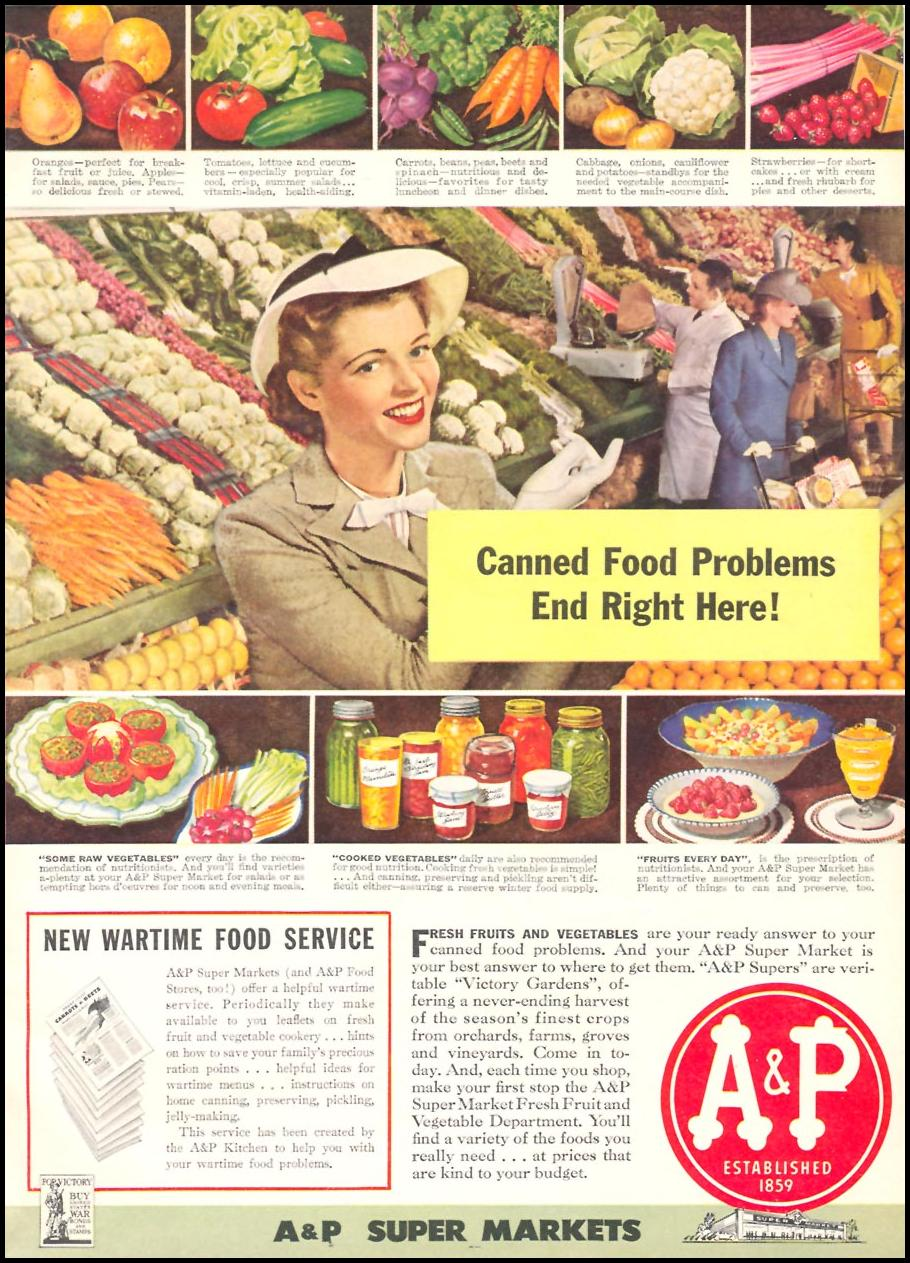 A & P FRESH PRODUCE WOMAN'S DAY 06/01/1943