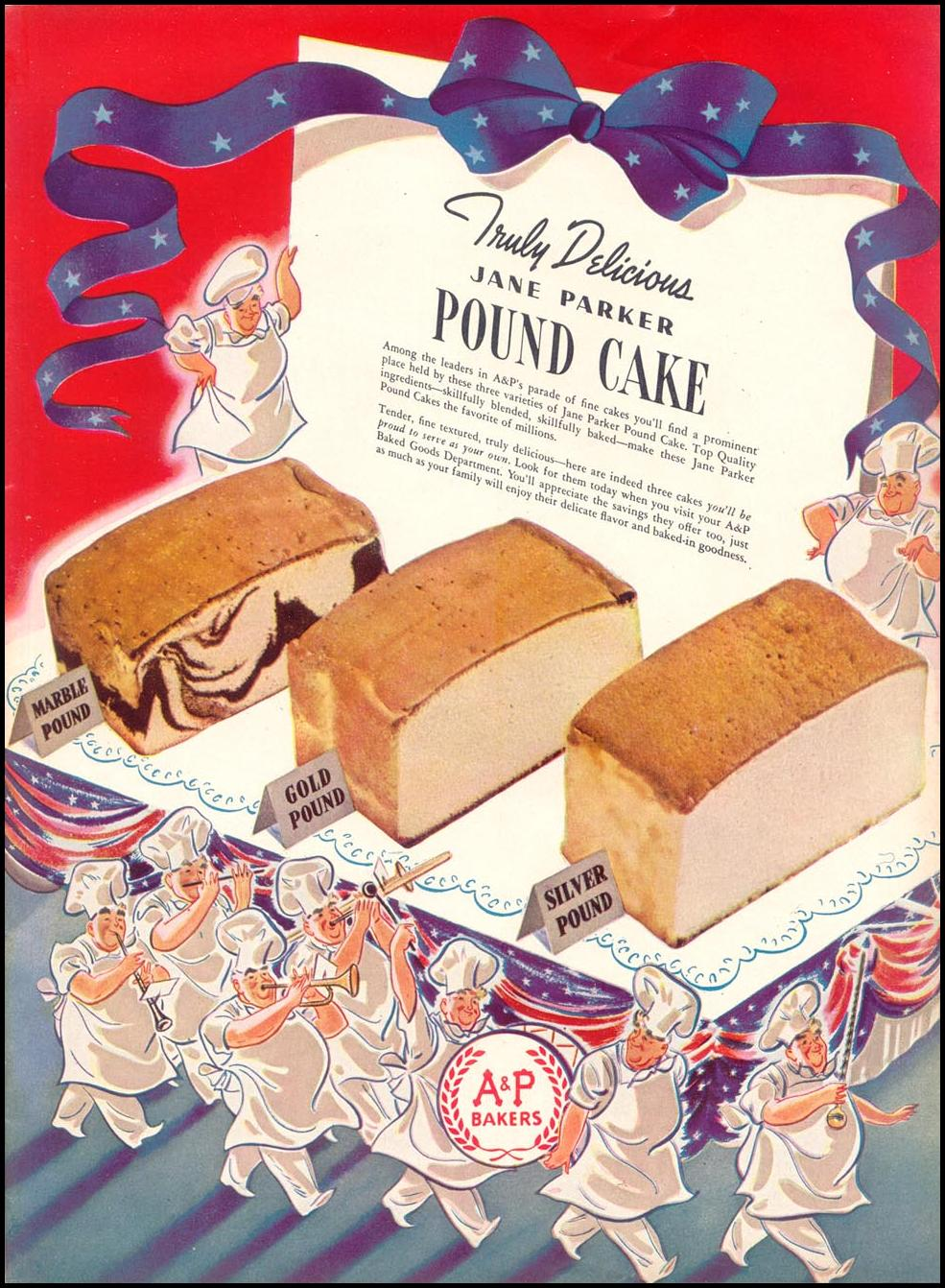 JANE PARKER POUND CAKE WOMAN'S DAY 07/01/1940