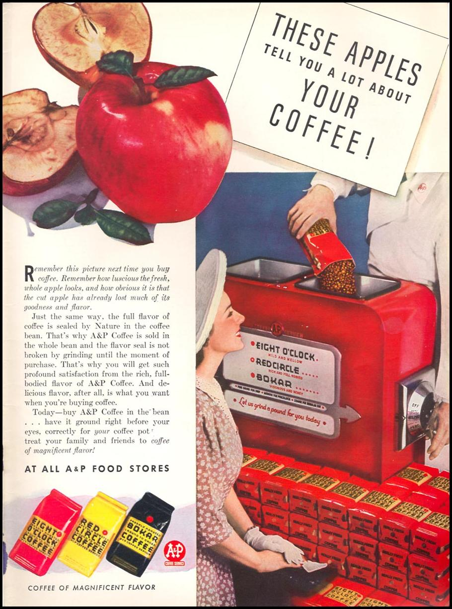 A & P COFFEE WOMAN'S DAY 07/01/1946 INSIDE BACK
