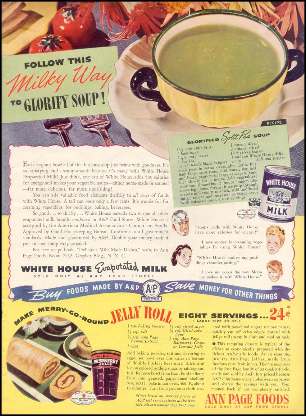 WHITE HOUSE EVAPORATED MILK WOMAN'S DAY 09/01/1940 p. 9