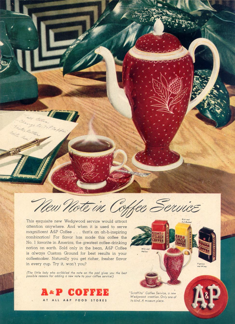 A & P COFFEE WOMAN'S DAY 10/01/1948 p. 33