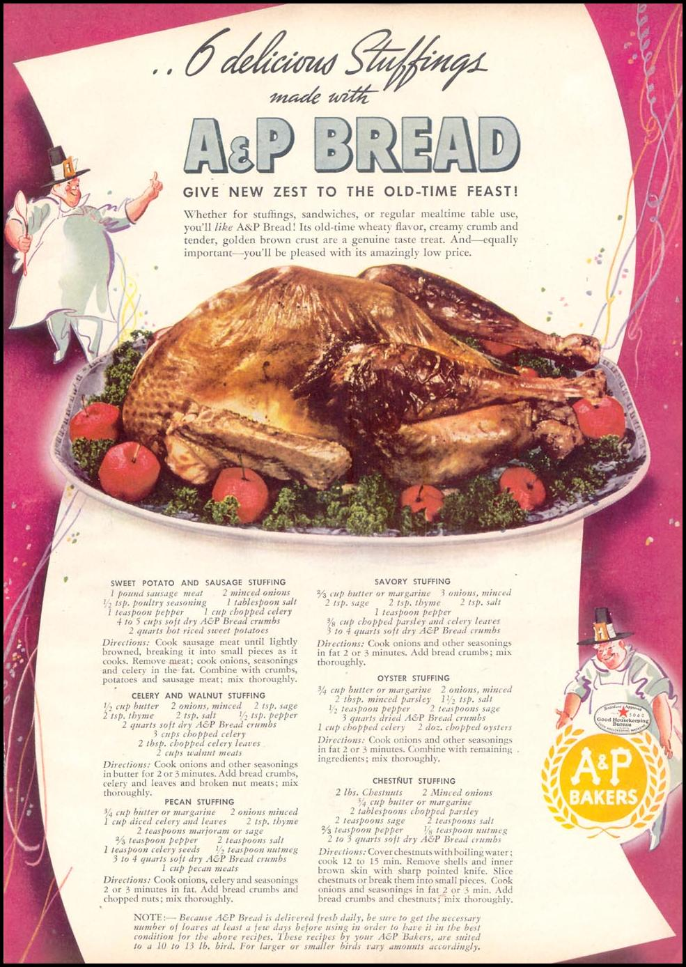 A & P BREAD WOMAN'S DAY 11/01/1940