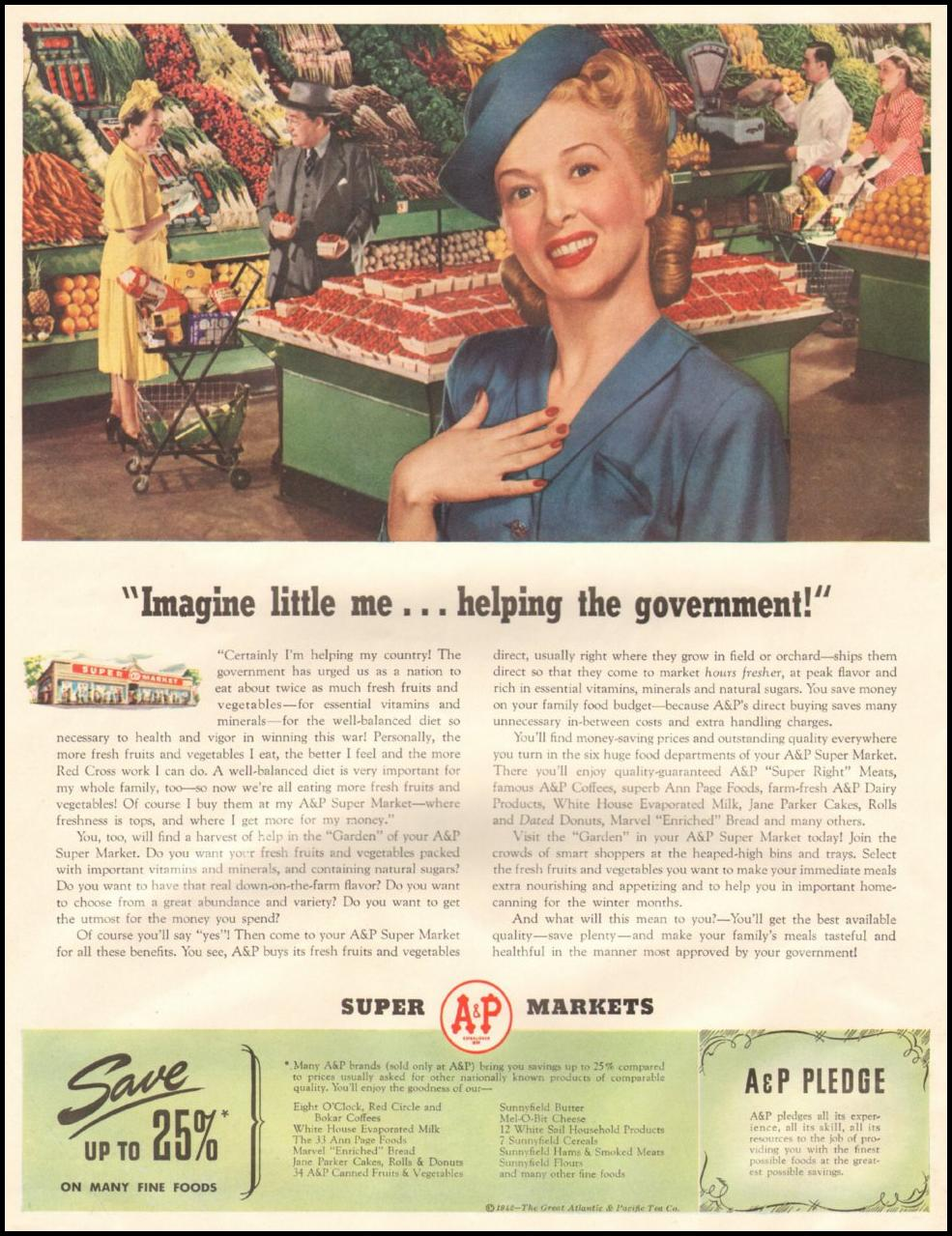 A & P SUPER MARKETS LIFE 06/22/1942 p. 42