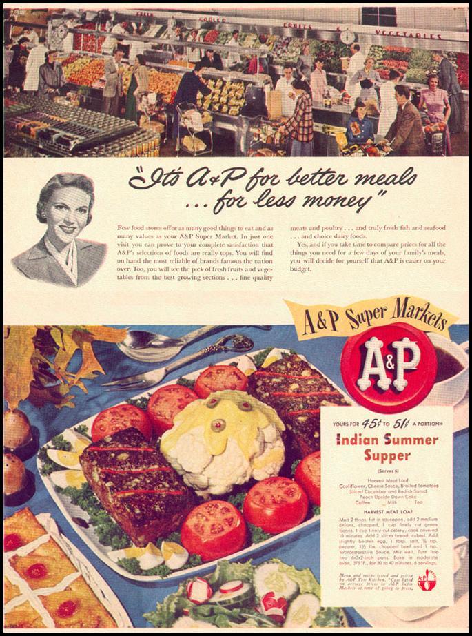 A & P SUPERMARKETS LIFE 10/11/1948 p. 10