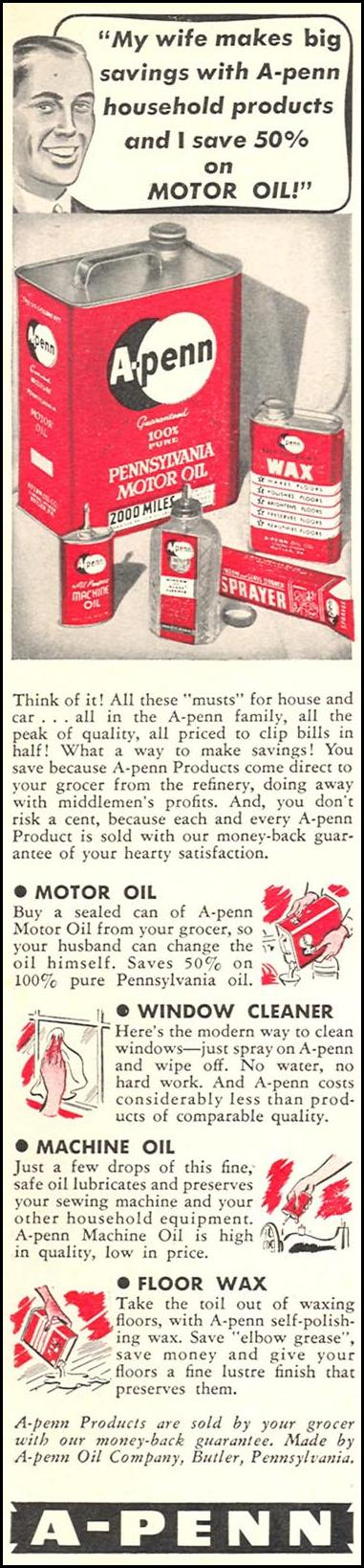 A-PENN HOUSEHOLD PRODUCTS WOMAN'S DAY 05/01/1940 p. 2
