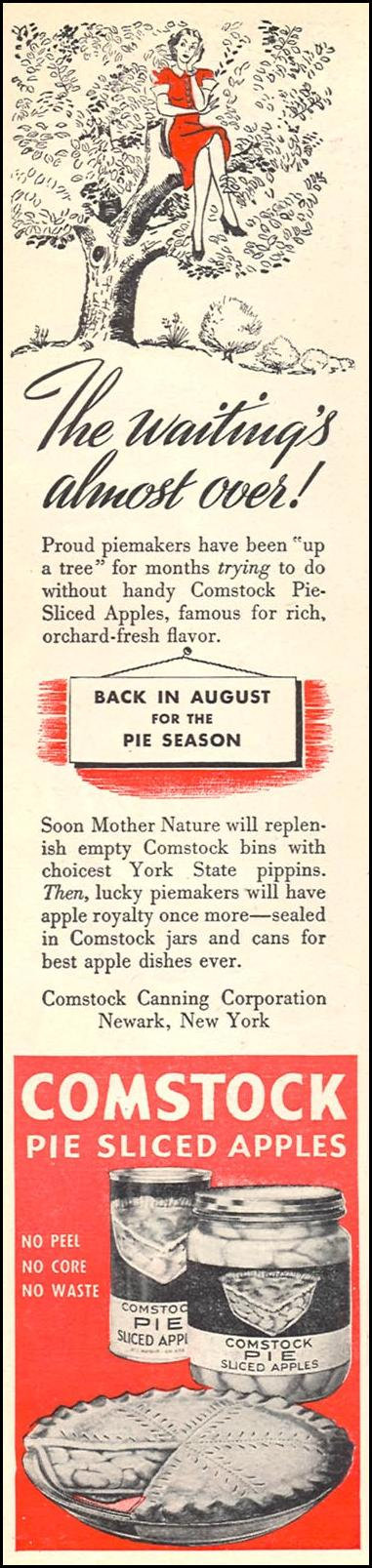 COMSTOCK PIE-SLICED APPLES WOMAN'S DAY 06/01/1946 p. 8