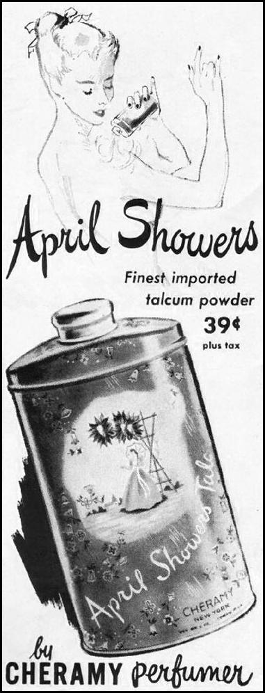 APRIL SHOWERS TALC LADIES' HOME JOURNAL 11/01/1950 p. 130