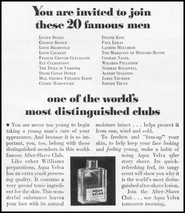 AQUA VELVA AFTER SHAVE LOTION LIFE 06/16/1952 p. 78