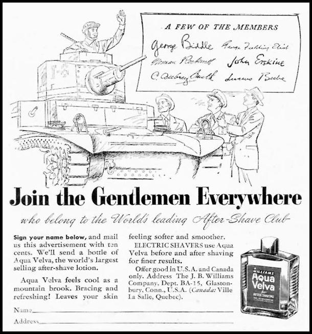 AQUA VELVA AFTER-SHAVE LOTION TIME 08/17/1942 p. 56