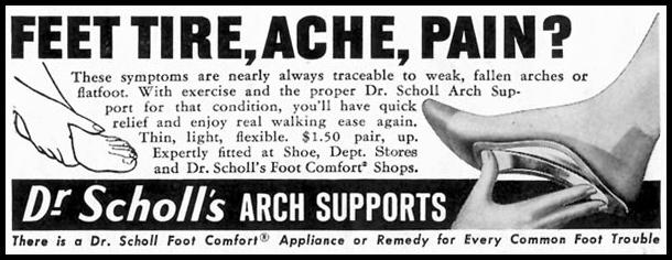 DR. SCHOLL'S ARCH SUPPORTS SATURDAY EVENING POST 05/02/1959 p. 112