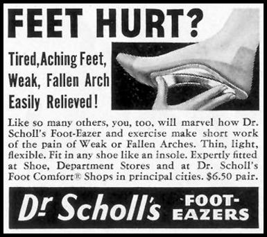 DR. SCHOLL'S FOOT-EAZERS SATURDAY EVENING POST 07/23/1955 p. 82