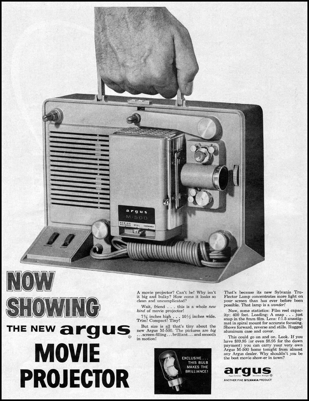 ARGUS MOVIE PROJECTOR LIFE 09/15/1958