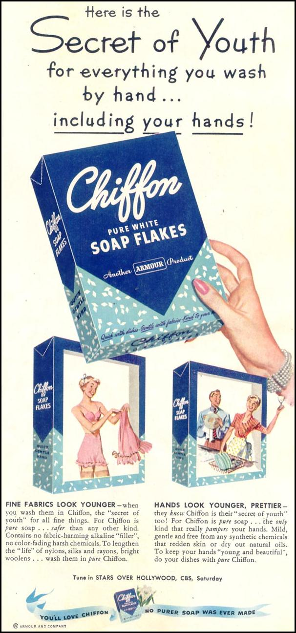 CHIFFON SOAP FLAKES WOMAN'S DAY 02/01/1950 p. 23