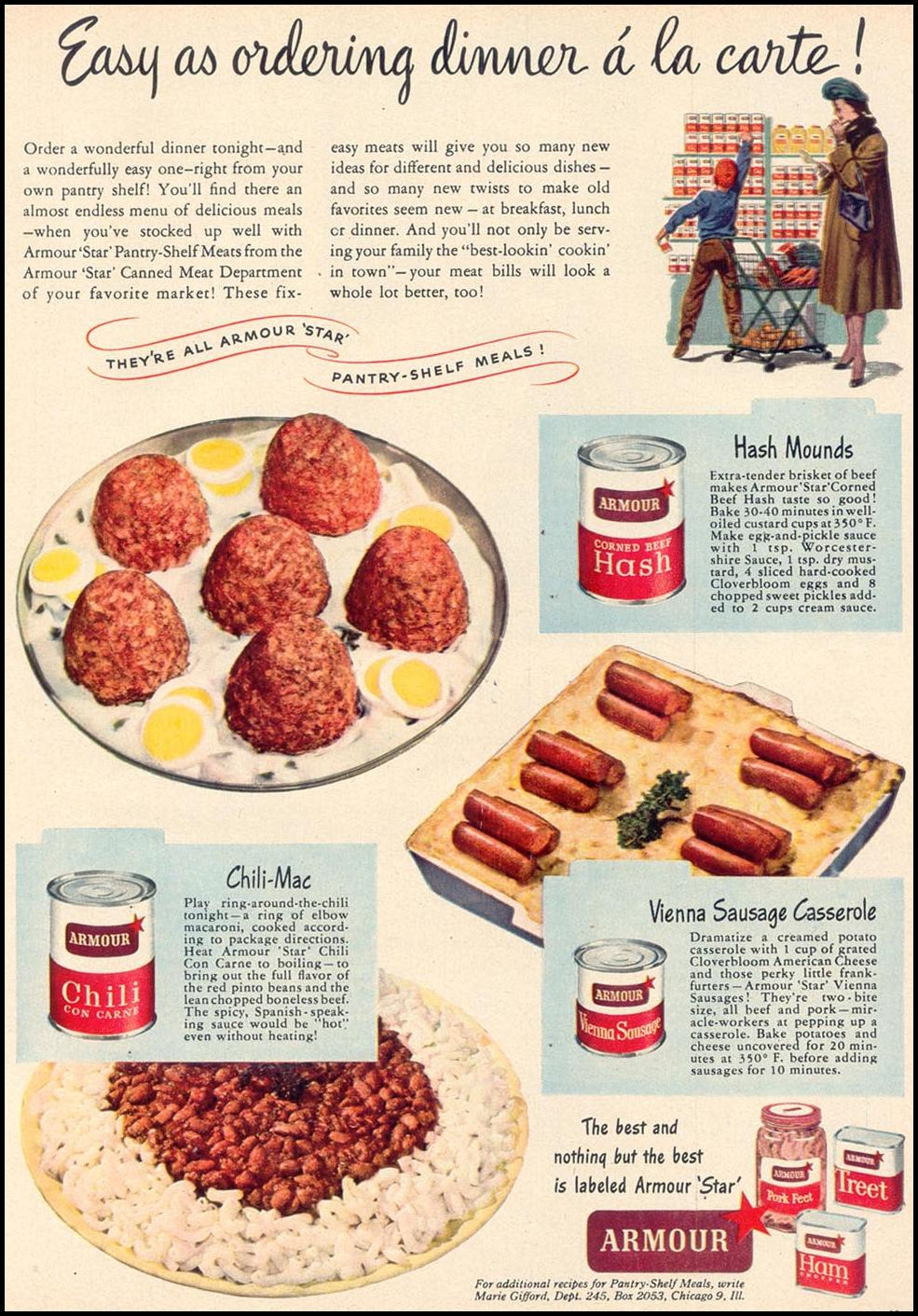 ARMOUR STAR CANNED MEATS WOMAN'S DAY 03/01/1948 p. 61