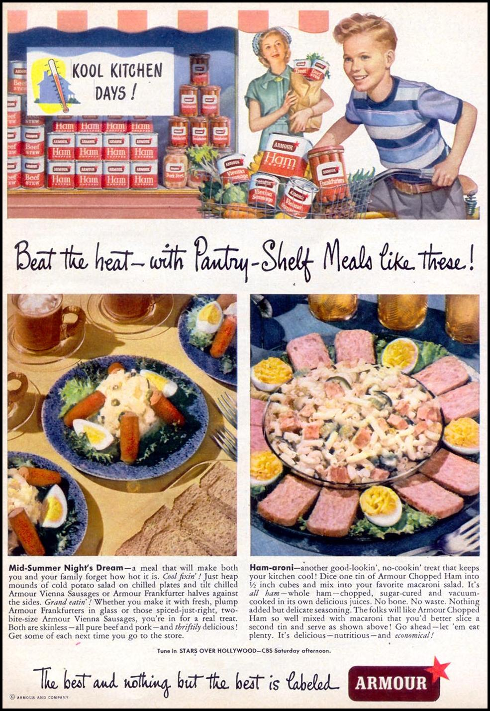ARMOUR STAR CANNED MEATS WOMAN'S DAY 07/01/1949 p. 53