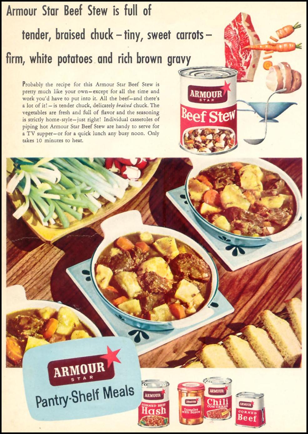 ARMOUR PANTY-SHELF MEALS WOMAN'S DAY 10/01/1954 p. 28