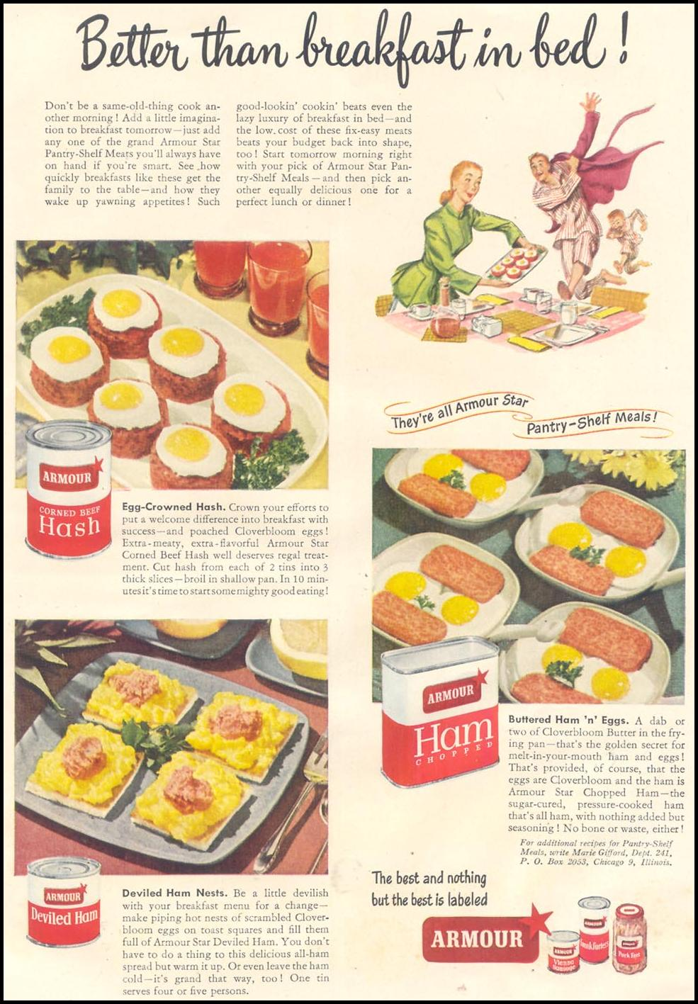 ARMOUR CANNED MEATS GOOD HOUSEKEEPING 07/01/1948 p. 161