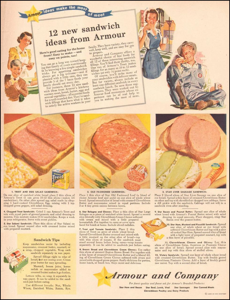 ARMOUR LUNCH MEATS LIFE 08/09/1943