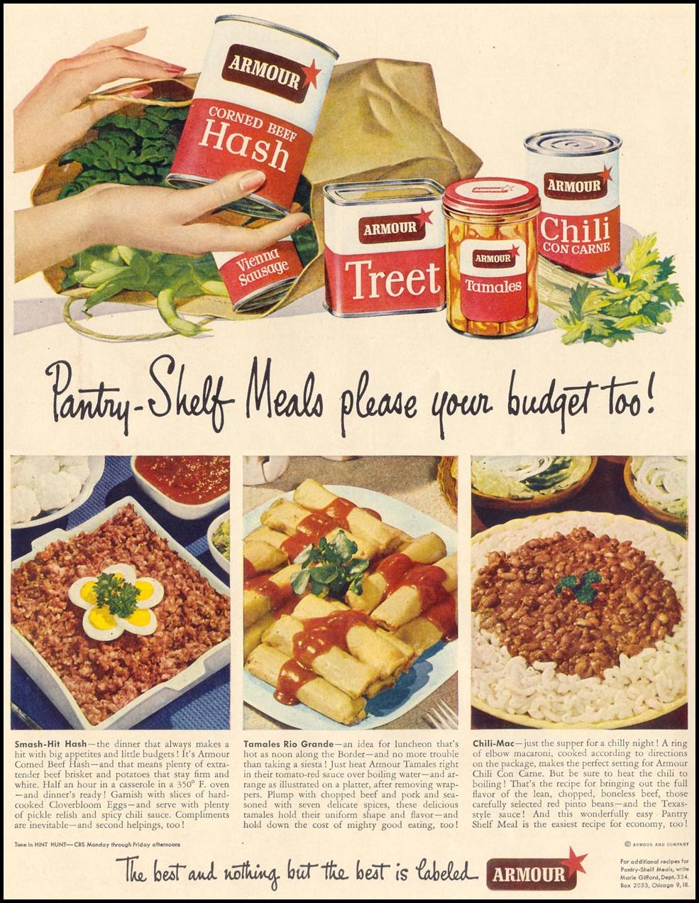 ARMOUR CANNED MEATS LIFE 11/15/1948