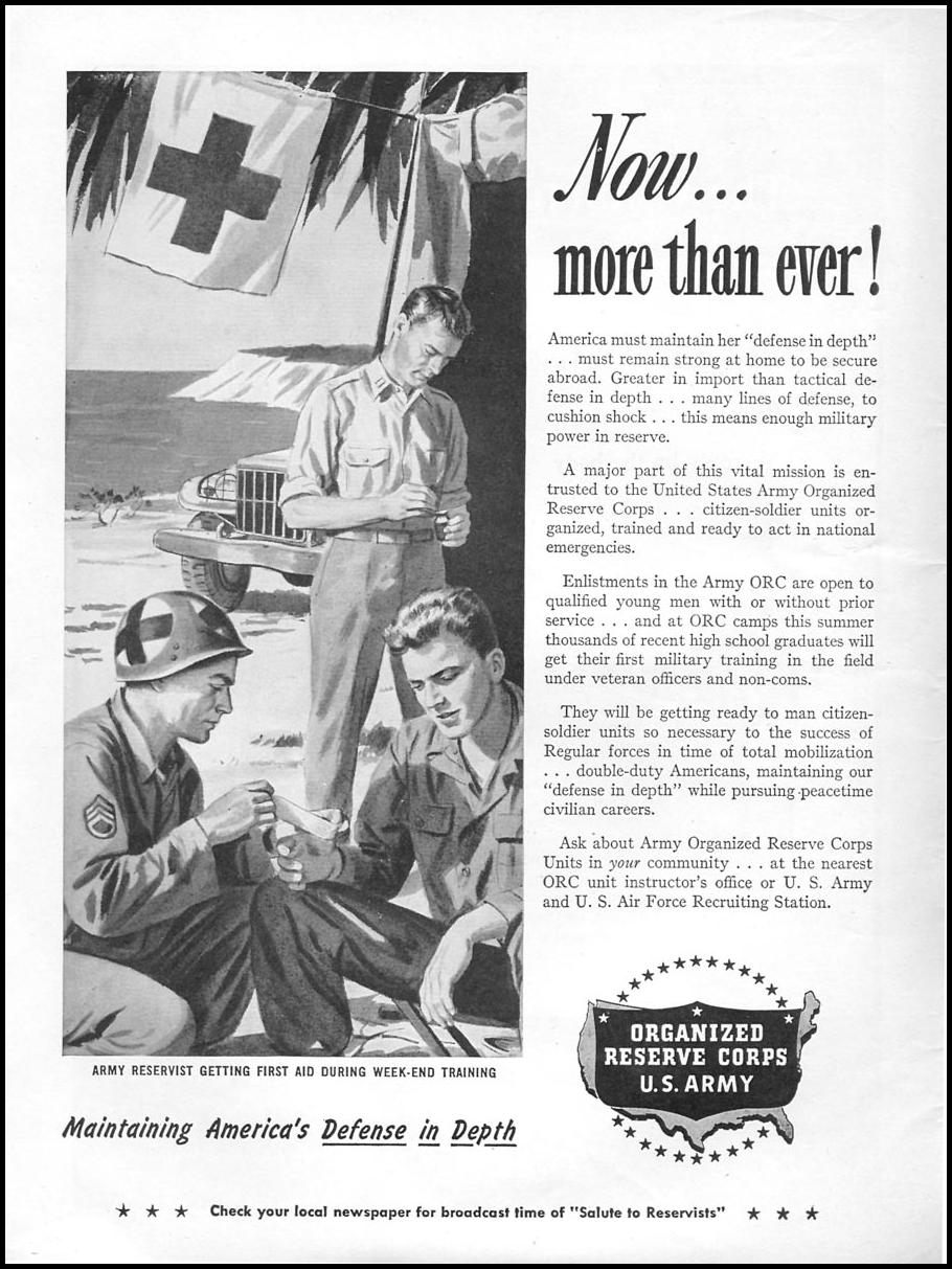 MILITARY SERVICE NEWSWEEK 06/11/1951 p. 8