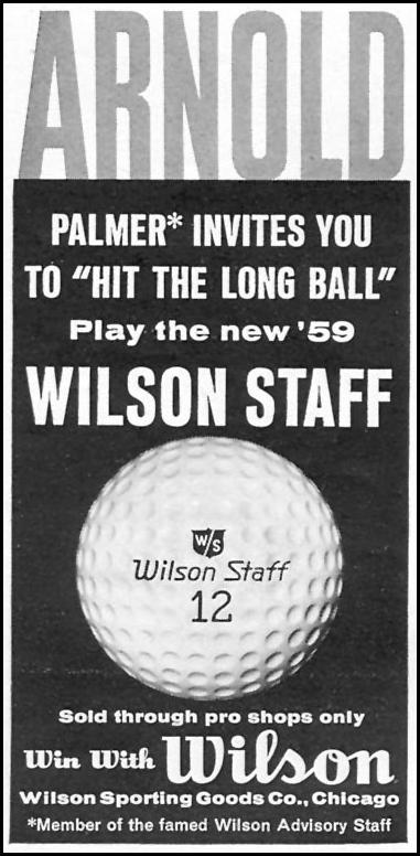 WILSON STAFF GOLF BALLS SPORTS ILLUSTRATED 04/27/1959 p. 8