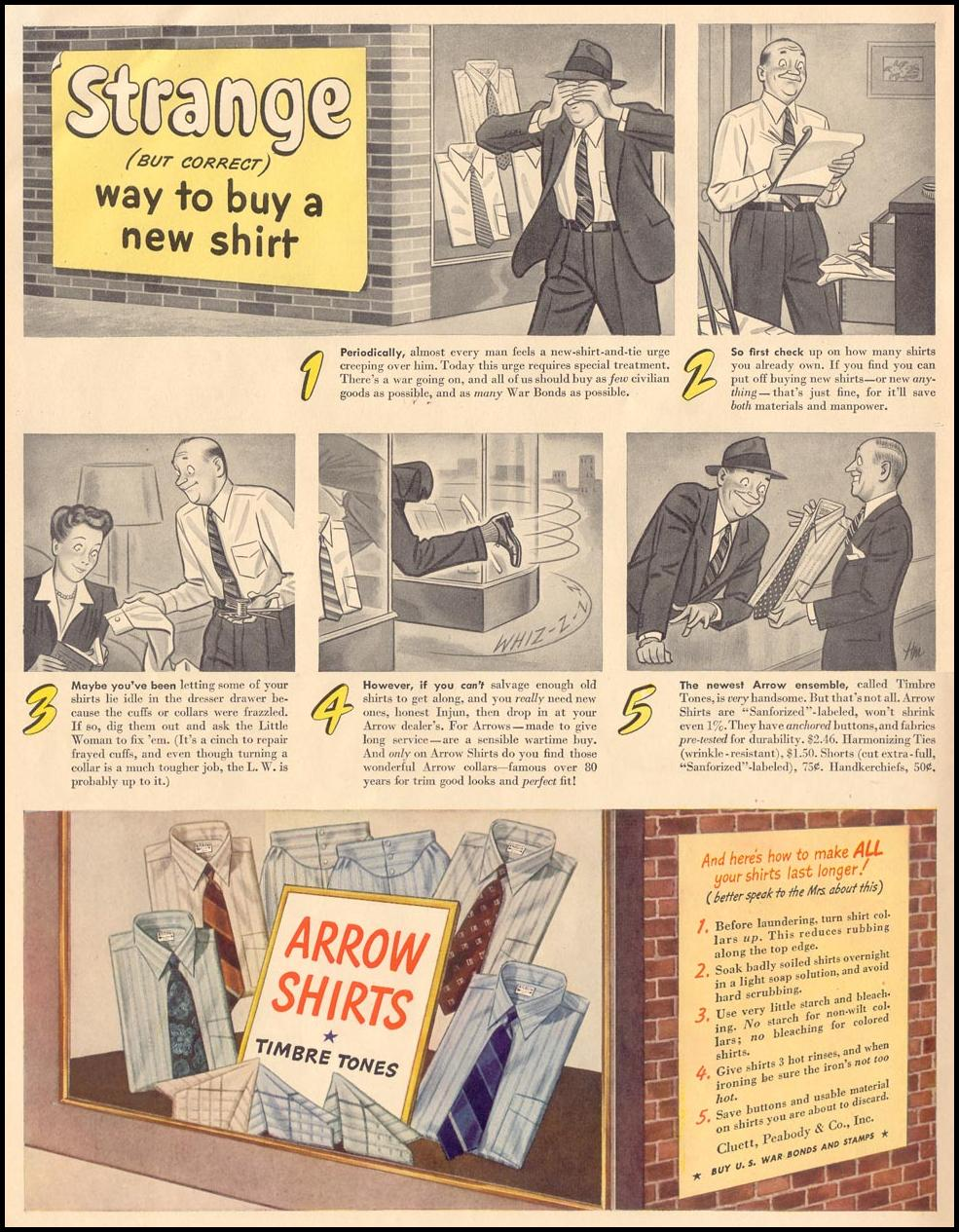 ARROW SHIRTS LIFE 11/08/1943