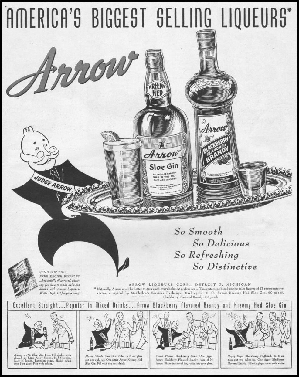 ARROW LIQUEURS LIFE 11/15/1946 p. 131